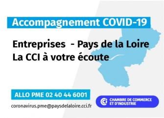 COVID-19 : A votre écoute via ALLO PME 02 40 44 6001